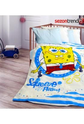 Sponge Bob Pamuklu Bebek Nevresim Takımı