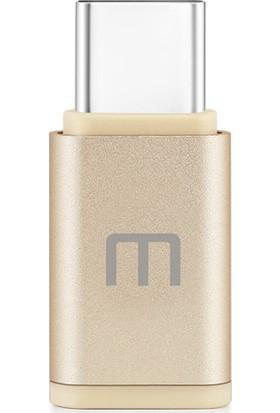 Meizu Micro USB To Type-C Dönüştürücü Adaptör - Altın