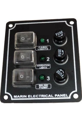 Moon Light MD 1003 D 3'lü Dikey Switch Panel