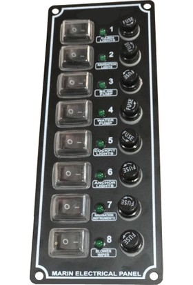 Moon Light MD 1008 D 8'li Dikey Switch Panel