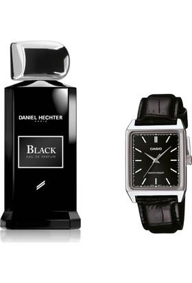 Daniel Hechter Homme Collection Couture Black Edp 100 ml Erkek Parfümü + Casio Mtp V007l 1eudf Kol Saati