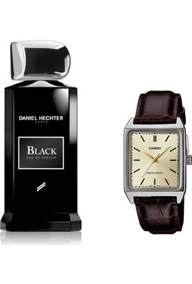 Daniel Hechter Homme Collection Couture Black Edp 100 ml Erkek Parfümü + Casio Mtp V007l 9eudf Kol Saati