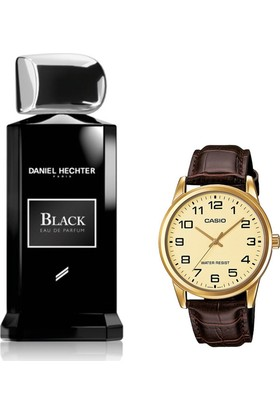 Daniel Hechter Homme Collection Couture Black Edp 100 ml Erkek Parfümü + Casio Mtp V001gl 9budf Kol Saati