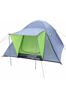 Gringo AE 4 Kişilik Güneşlikli Ortadan Pencereli Kamp Çadırı 200x200x135 CM