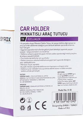 Syrox H-10 Araç İçi Mıknatıslı Telefon Tutacağı - Gümüş