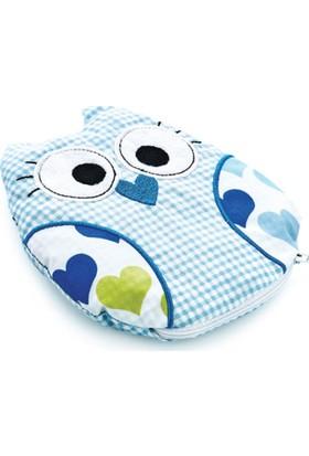 Baby Jem Kiraz Çekirdekli Kurbağa Yastık Mavi Baykuş