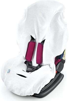 Baby Jem Örme Havlu Oto Koltuğu Kılıfı Beyaz