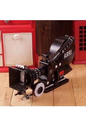 Tkn Nostaljik Arrı Kamera Tasarımlı Metal Biblo