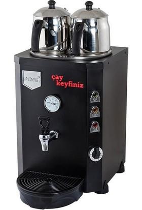 Remta Remta Çay Ocağı Kazanı Makinesi 13 Lt 2 Demlik Elektrikli Siyah