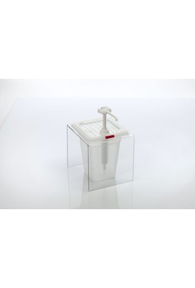 Gastroplast Ketçap Pompası Mayonez Hardal Dispenseri Stand Şeffaf