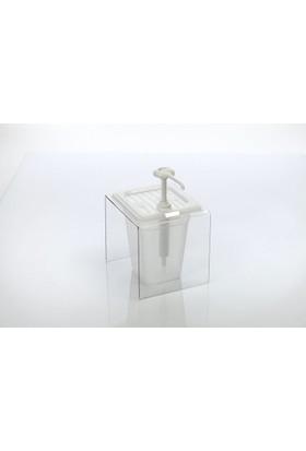 Gastroplast Mayonez Pompası Ketçap Hardal Dispenseri Stand Şeffaf