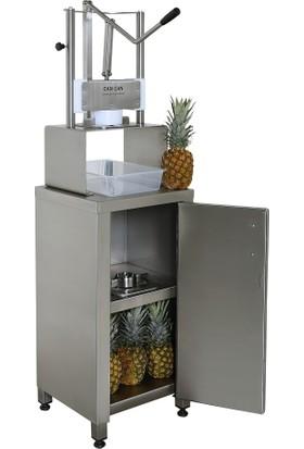 Cancan Ananas Soyma Makinesi Standı Paslanmaz Çelik