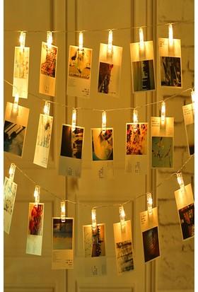 Buffer 20li Işıklı Fotoğraf Mandalları 3 Metre