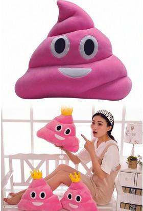 Buffer Pembe Gülen Poo Emoji Yastık