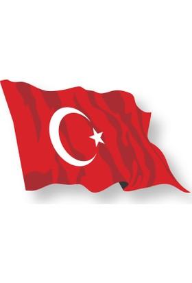 Oracal Kırmızı Türk Bayrağı Sticker 10 x 7 cm