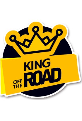 Areksan Reklam King Of The Road Sticker 13 cm