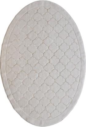Liviadora Petek Desenli %100 Pamuk Yıkanabilir Kemik Oval Halı