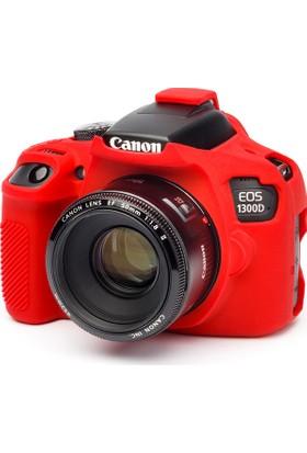 Easycover Canon 1300D + Silikon Kılıf Ekran Koruyucu ( Kırmızı )