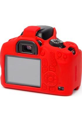 Easycover Canon 2000D + Silikon Kılıf Ekran Koruyucu ( Kırmızı )