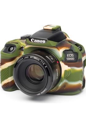 Easycover Canon 1300D + Silikon Kılıf Ekran Koruyucu (Kamuflaj)