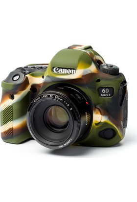 Easycover Canon 6D Mark2 + Silikon Kılıf Ekran Koruyucu (Kamuflaj)