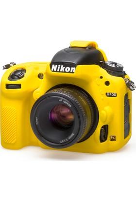 Easycover Nikon D750 + Silikon Kılıf Ekran Koruyucu ( Sarı )