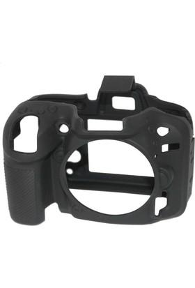 Easycover Nikon D7200 + Silikon Kılıf Ekran Koruyucu ( Siyah )
