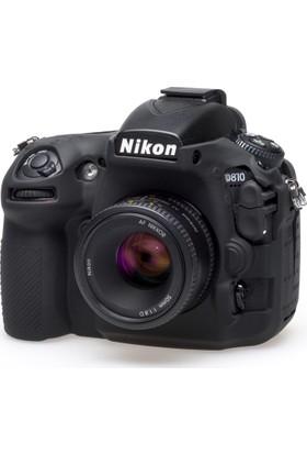 Easycover Nikon D810 + Silikon Kılıf Ekran Koruyucu ( Siyah )