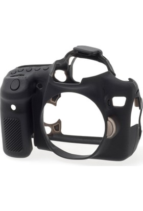 Easycover Canon 70D + Silikon Kılıf Ekran Koruyucu ( Siyah )