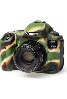Easycover Canon 5D Mark4 Silikon Kılıf+Ekran Koruyucu (Kamuflaj)