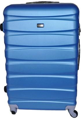 453ef01745270 Boyraz Abs Orta Boy 4 Tekerlekli Valiz,Seyehat Çantası,Bavul,Kırılmaz  Plastik Tekerlekli ...