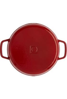 Hecha Döküm Sahan 22 cm Kırmızı