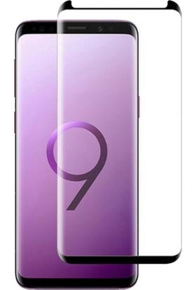 Piili Samsung Galaxy S9 Plus 5D Full Glue Cam Ekran - Siyah