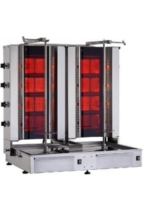 Kalitegaz Tüplü Döner Makinası Doğalgaz 8 Radyan Alttan Motor Cam