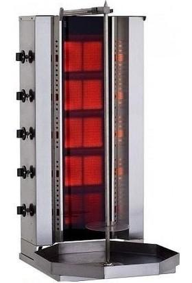 Kalitegaz Tüplü Döner Makinası Doğalgazlı 5 Radyanlı Robax Camlı