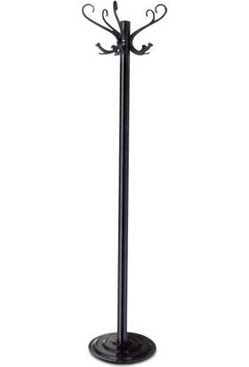 Aben Metal Ayaklı Askı Paslanmaz Çelik Palto Portmanto Askı Bambu