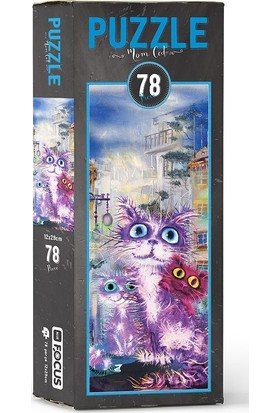 Blue Focus BF053 Mom Cat 78 Parça Puzzle