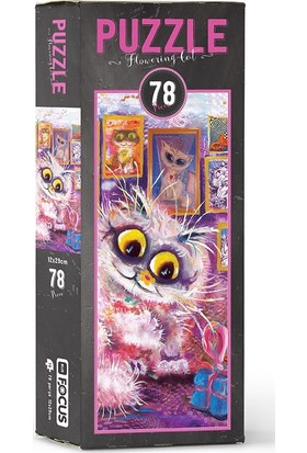 Blue Focus BF055 Flowering Cat 78 Parça Puzzle