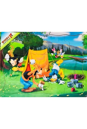 Woody Minnie Mouse Kamp Hazırlığı (12 Parça Ahşap Yapboz)