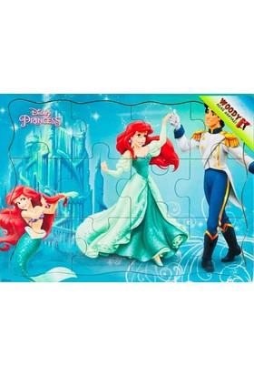 Woody Disney Prenses Deniz Kızı Ariel 12 Parça Tahta Çocuk Yapboz