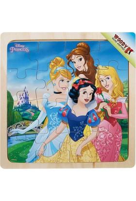 Woody Disney Princess 16 Parça Ahşap Kare Puzzle (Şato)