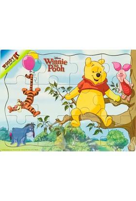 Woody Winni The Pooh Saklanbaç Oyunu 12 Parça Ahşap Yapboz