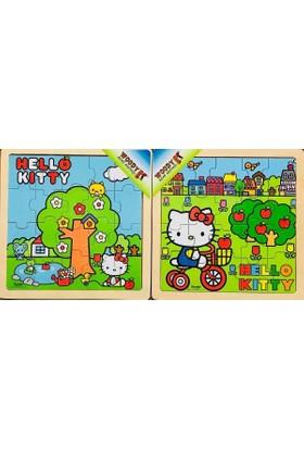 Woody Hello Kitty 2'li Ahşap Puzzle Seti - 2x16 Parça
