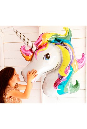 Kazanabil Unicorn Tek Boynuzlu At Folyo Balon 92x126cm