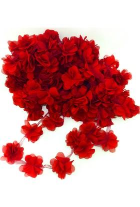Kazanabil 50li Şerit Tül Çiçek Süsleme Malzemesi Kırmızı