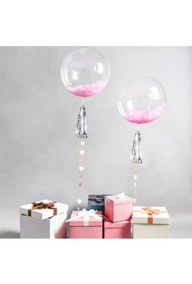 Kazanabil Baskısız Şeffaf PVC Parti Balonu 15cm