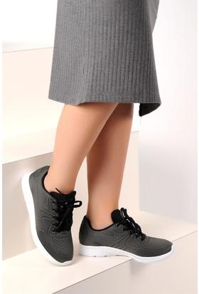 Pembe Potin Haki Kadın Sneaker