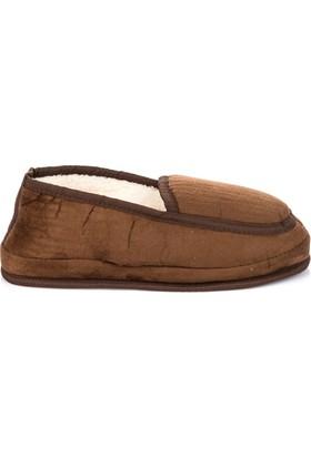 Pembe Potin Kahverengi Erkek Ev Ayakkabısı