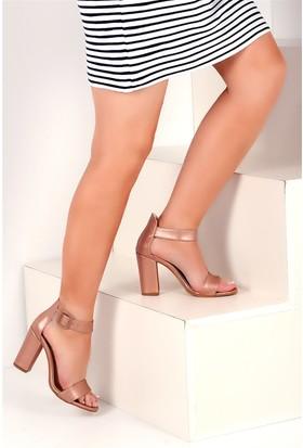 Pembe Potin Pembe Kadın Topuklu Ayakkabı