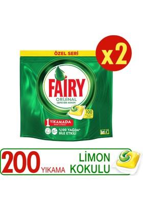 Fairy Hepsi Bir Arada Bulaşık Makinesi Deterjanı Kapsülü Limon Kokulu Özel Seri 200 Yıkama